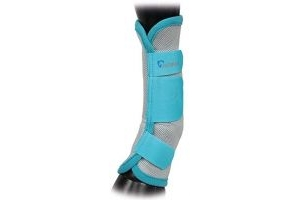 Shires Arma Fly Turnout Socks Teal Cob