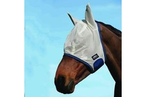 Weatherbeeta comfitec airflow mask white/blue/sea blue pony