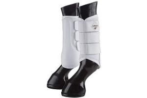 LeMieux Unisex's ProSport Mesh Brushing Boots Pair, White, Small