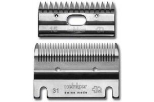 HEINIGER STANDARD BLADE SET FOR HEINIGER CLIPPERS BOTTOM BLADE 31 TOOTH TOP BLADE 15