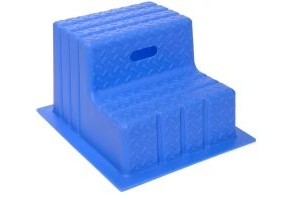 Classic Showjumps Standard 2 Step Mounting Block Blue