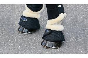 Weatherbeeta Sheepskin Bell Boots - Black: Cob
