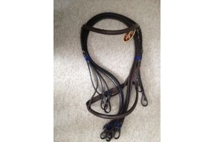 Kincade Double/Show Weymouth Bridle with Reins-Black Full