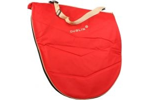 Dublin Imperial Saddle Bag Red/Cream
