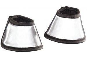 Harry Hall Hi Viz Over Reach Boots Silver