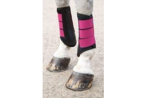 Shires Arma Neoprene Brushing Boots in Raspberry EXTRA Fulll, Rspbry