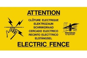 Fenceman Warning Sign Yellow