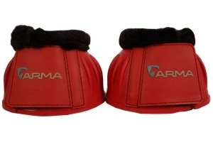 Arma Fleece Topped Over Reach Boot Red