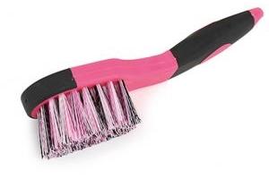 Shires Ezi-Groom Bucket Brush Pink