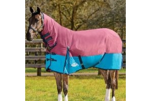 Weatherbeeta ComfiTec Essential Combo 360g Heavyweight Turnout Rug Burgundy/Teal/Blue