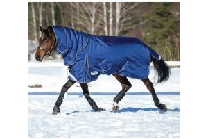 WeatherBeeta ComFiTec Ultra Tough 360g Heavy Weight Detach-A-Neck Turnout Rug Blue/Charcoal/White