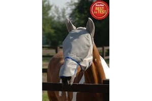 equilibrium Unisex's Field Relief Max Fly Mask-Grey/Blue, Large