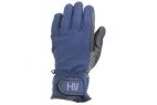 Hy5 Water Repellant Softshell Riding Gloves - Navy - X Small