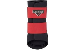 LeMieux Grafter Brushing Boots Chilli Red