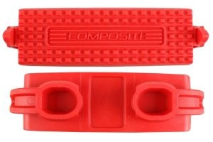Shires Adult Compositi Premium Profile Treads Red