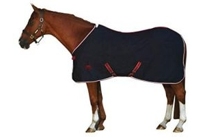Weatherbeeta Cotton Sheet Standard Neck Navy Red White - Functional and smart cotton show sheet - Comfort for your horse all