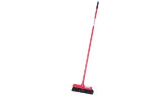 Red Gorilla Short Handled 30cm Broom: Red