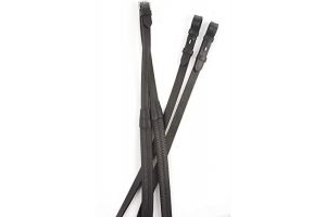 Kincade Rubber Reins Black 48 inch