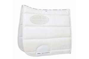 Weatherbeeta Elite Dressage Full Size Saddle Pad - White: Pony