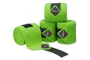 LeMieux Unisex's Fleece Polo Bandages Set of 4, Lime, Pony