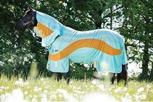 Horseware Amigo VAMOOSE EVOLUTION DISC Colour Tech Insect Repellent Fly Rug Aqua/Orange/7'3