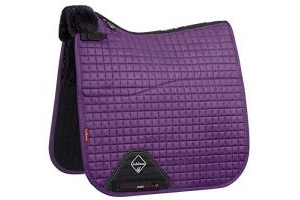 LeMieux Merino+ Suede Half Lined Dressage Square Large Blackcurrant/Black