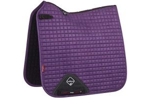LeMieux Unisex's ProSport Suede Dressage Square Saddle Pad, Blackcurrant, Large