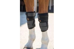 Shires Arma Hot/Cold Joint Relief Horse Boots in Black one size