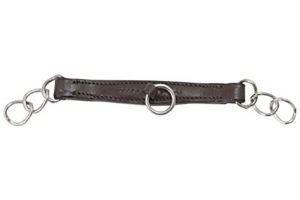 Shires Blenheim Leather Curb Chain-Havana Cob