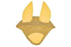 Weatherbeeta Prime Full Size Horse Ear Bonnet Mustard