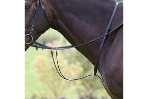 Shires Equestrian - Blenheim Running Martingale - Black - Size: Cob