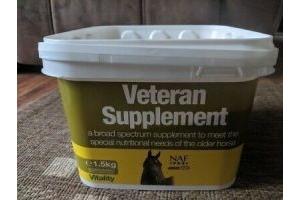 NAF Veteran Supplement 1.5kg Vits and Mins for Older Horses Balancer
