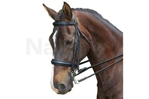 Collegiate Padded Headpiece Raised Weymouth Bridle Brown Full