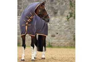 Horseware Ireland Amigo All-in-One Jersey Cooler, Excalibur/Orange, 84