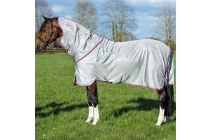 Horseware Amigo Bug Rug / Fly Blanket, Silver/Purple