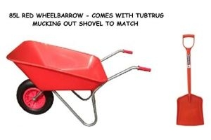 KetoPlastics 85L RED WHEELBARROW WITH 14
