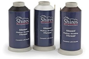 Shires Equestrian - 'shires' Waxed Plaiting Thread - Black - Size: Reel