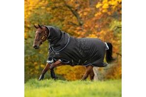 Horseware Amigo Bravo 12 Plus 250g Medium Weight Detach-A-Neck Turnout Rug Black/Strong Blue