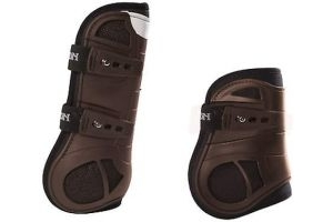 Eskadron FlexISOFT Air Tendon Boots Dark Brown Set of 4 Front and Rear