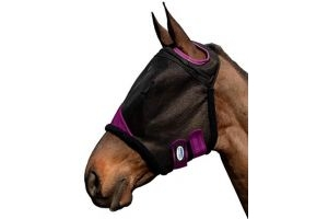 Weatherbeeta comfitec durable mesh mask black/purple warmblood
