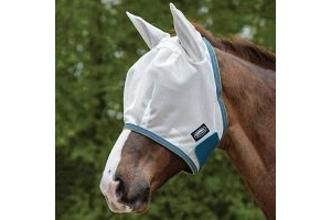 Weatherbeeta Comfitec Airflow Mask White/Sea Green/Pink Cob