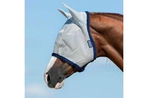 Horseware New Amigo FlyMask Größe: P Farbe: silver-navy