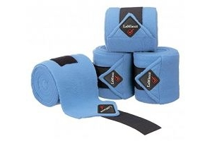 LeMieux Unisex's Fleece Polo Bandages Set of 4 Corn Blue, Pony
