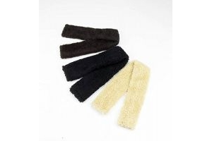 Y-H Hy Fur Fabric Girth Sleeve, Black