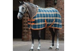 Saxon PP Stable 200g Medium Weight Standard Neck Blue / Pebble / Orange: 7 ft