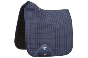 LeMieux ProSport Suede Dressage Square Saddle Pad Navy