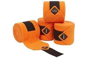 LeMieux Unisex's Fleece Polo Bandages Set of 4, Tangerine, Full
