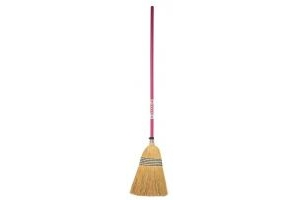 Faulks Red Gorilla Corn Broom Standard: Pink