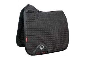 LeMieux Merino+ Sensitive Skin Dressage Square Saddle Pad Black