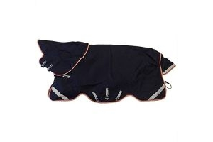 Horseware Rambo Duo Bundle Turnout Rug 7ft0 Navy/Beige/White/Red